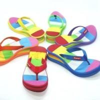 Jual pretty pelangi / rainbow sandal wedges by sandalsancuindonesia.com Murah
