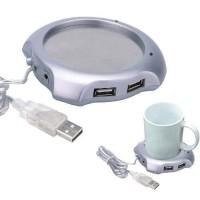 Jual USB 2.0 Coffee Cup Warmer Pad with 4 USB Ports Hub Murah