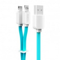 Rock Smart Safe 2 in 1 Charging Cable Lightning & Micro USB White/Blue