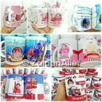 Custom Mug / Gelas untuk kado, Sovenir, hadiah, Company Branding dll