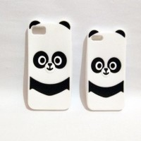Jual CASING HANDPHONE IPHONE 7 TRENDY 3D PANDA SOFT SILIKON BACK CASE COVER Murah