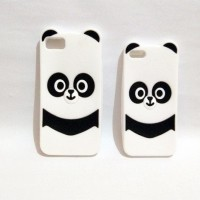 Jual CASING HANDPHONE IPHONE 6 6S TRENDY 3D PANDA SOFT SILIKON BACK CASE Murah