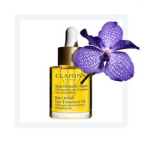 Jual Clarins Blue Orchid Face Treatment Oil for dehydration skin . 2ml Murah