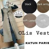 Baju Atasan / Blouse Muslim / Gamis / Cardy Rompi Olis Vest KSH90