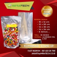 Plastik Kombinasi Stand Up 14x24 cm