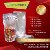 Plastik Zipper Kombinasi Stand Up 14x26 cm