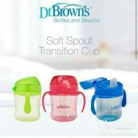 Jual Dr Brown Browns Soft Spout Transition Cup Training Trainer Gelas Sippy Murah