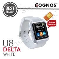Jual Cognos Smartwatch U8 DELTA - GSM SIM CARD - Putih Murah