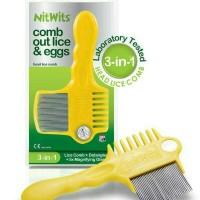 Sisir Serit Metal Nit Lice Comp - Sisir Pembersih Kutu Rambut Anak