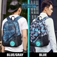 Tas Ransel Backpack USB Charger Port Luminous Glow In The Dark