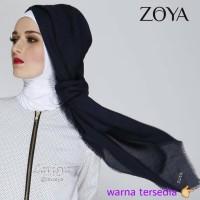 Zoya Kerudung Unvinished Swarovski / segi empat / jilbab / hijab