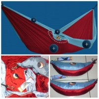 hammock ticket to the moon double red/bluesky Berkualitas