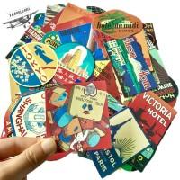 Sticker Stiker koper 50 Pcs : Retro Hotel Collection II Travel Rimowa