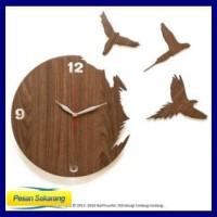 Jam Dinding Unik Artistik Flying Bird Wall Clock Distributor
