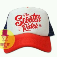 Jual TOPI TRUCKER THE SCOOTER RIDER - SB Murah