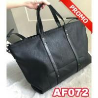 Tas wanita import Tas import ZARA pu leather tas kerja / 072 BLACK