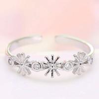 Jual Cincin Korea Descendants DOTS SongHeKyo Flower Diamond Ring  T557AE Murah