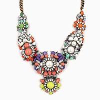 Jual Kalung Fashion Forever21 Mix Flower Pearl Statement Necklace R887DE Murah