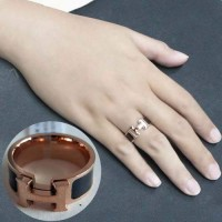 Jual Cincin Korea Titanium Ring 18k Rose Gold Female TITA06 Murah