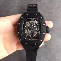 Jual Richard Mille RM055 PVD RMF Black Inner Bezel Skeleton Dial on Black Murah