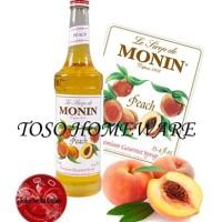 FAST SALE MONIN!! Monin Peach Syrup Gourmet 700ml Sirup  (NC)