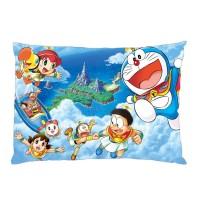 Sarung Bantal custom Doraemon #2 45x65 cm gambar