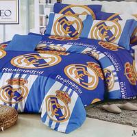 Jual Cuci Gudang Sprei Romeo ukuran 160 x 200 / Queen / No.2 - Real Madrid Murah