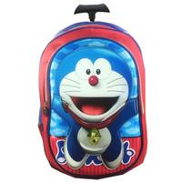 Jual Tas Troley Sekolah Anak SD Doraemon 3D Murah