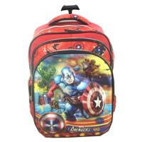 Jual Tas Troley Sekolah Anak SD Avenger 5 Dimensi Gmbr Rubah2 Murah