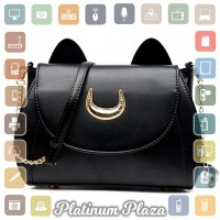 Tas Selempang Wanita Model Sailor Moon - Black`AMW8QY-
