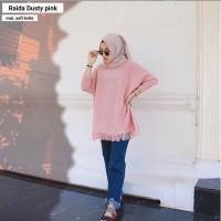 Grosir Baju Atasan Rajut Muslim Wanita Hijab Murah / Raida