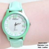 Jam tangan fashion casual wanita fossil tali leather kulit halus