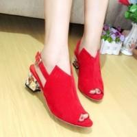 MURAH BANGET High Heels Korea Red bukan Zara Gucci