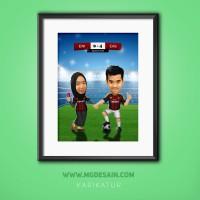 Pembuatan Karikatur Couple Utk Hadiah & Pajangan (pesan sesuai tema)