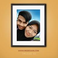 Jasa Pembuatan Smudge Kartun 3D Couple utk Hadiah & Pajangan
