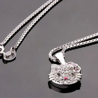 Kalung Perak EMAS PUTIH ASLI import KOREA - WG 035 (Garansi 6 bulan)