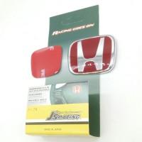 Emblem/ Logo Stir Honda Merah Red Emblem type A (BIG)