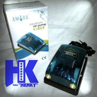 Amara Q 6 - Aquarium Air Pump Aerator (Mesin Pompa Gelembung) 2 lubang