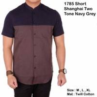 Jual Short shanghai two tone Navygrey and blackmaroon Murah