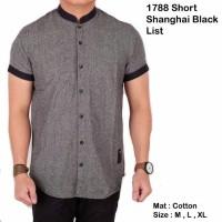 Jual Short shanghai grey black list and brown black list Murah