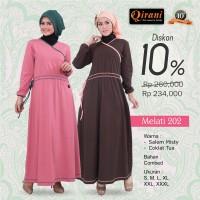Qirani Dewasa Melati 202   Baju Perempuan Wanita Muslim Gamis Dress.