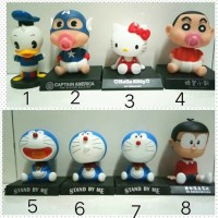 Jual Pajangan Dasbord Mobil Stitch , Doraemon , Angry , Rilakuma ,Astraboy Murah