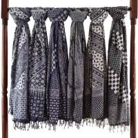 Jual Scraft Syal Batik / Selendang batik / Pashmina batik Grey Murah