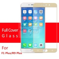 Tempered Glass Full 3D Oppo F1 Plus R9(Anti Gores Kaca)Curved Warna