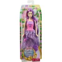 Boneka Barbie Mattel Endless Hair Kingdom Princess Doll - Purple Hair