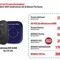 Jual Mifi Modem Wifi 4G Smartfren Andromax M3Y M3Z Free Perdana Kuota 30Gb Murah