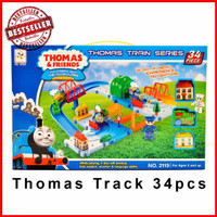 Jual Kereta Thomas and Friends Track Roller Coaster 34pcs no 2119 Murah