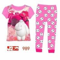 SALE baju tidur setelan piyama kaos anak perempuan branded impor murah