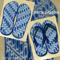 Sandal jepit ukir batik