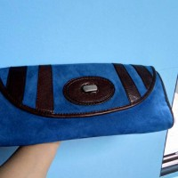 Clutch Fossil Fifty Four Blue Suede